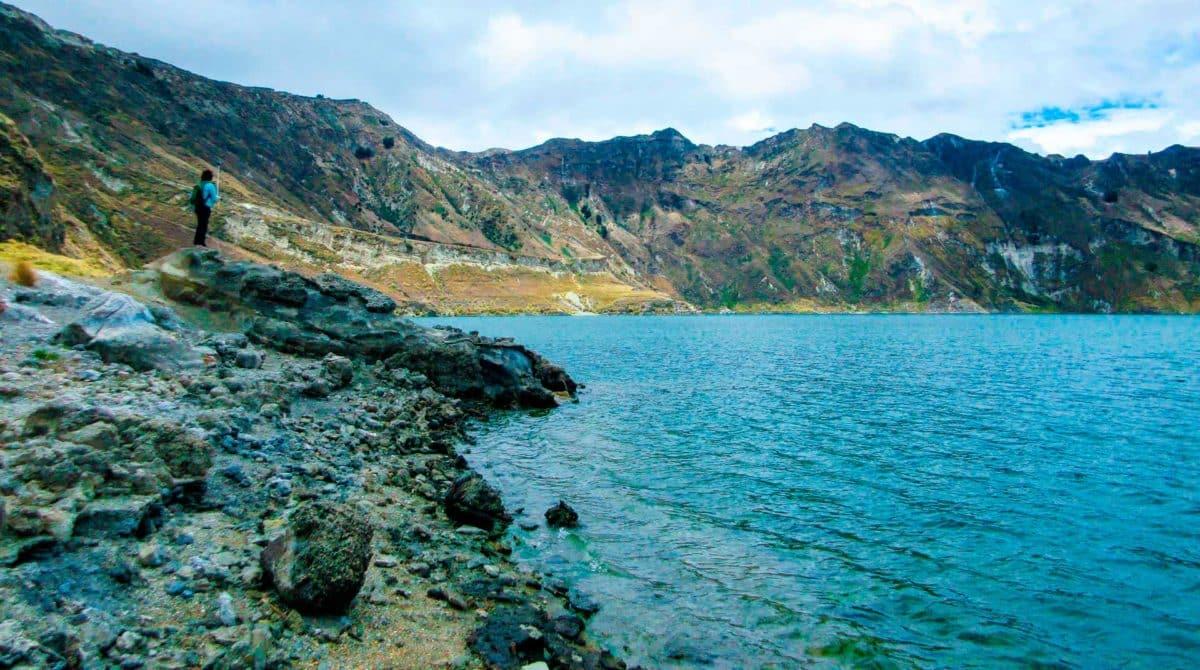 La laguna del volcán