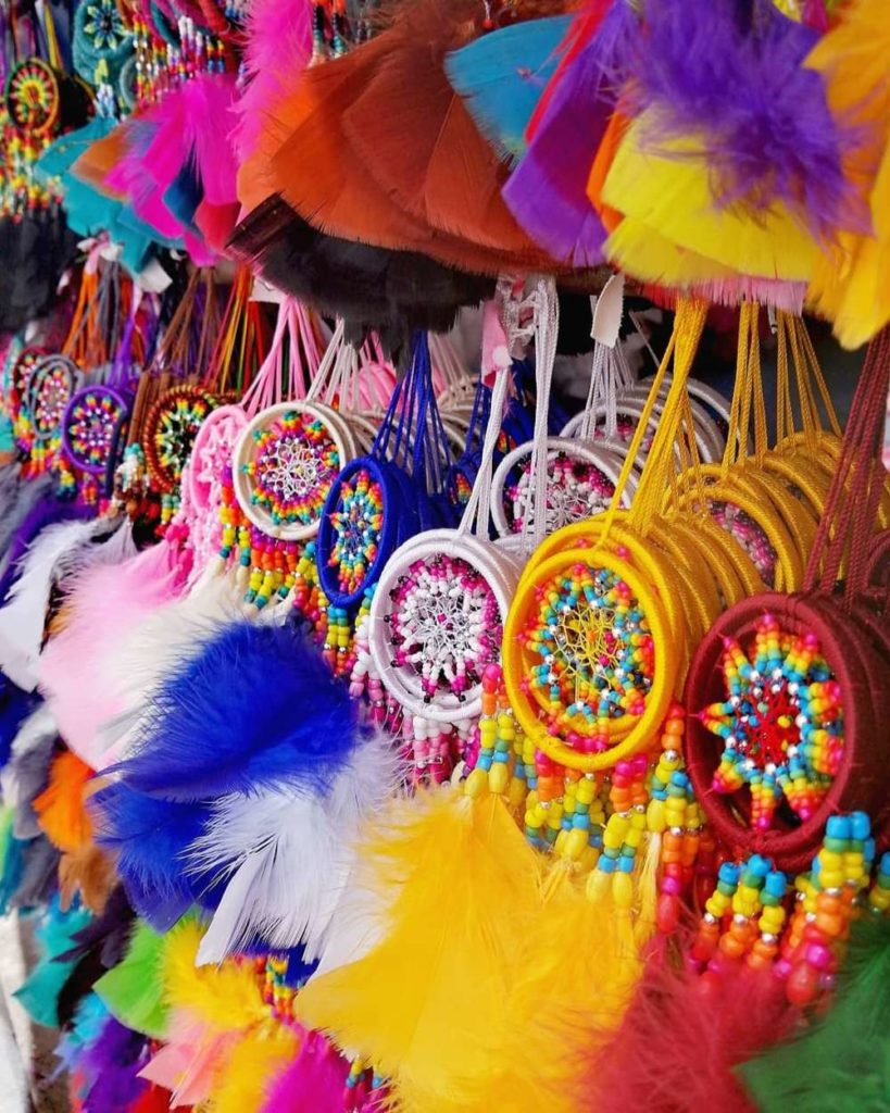 Otavalo market dream catchers