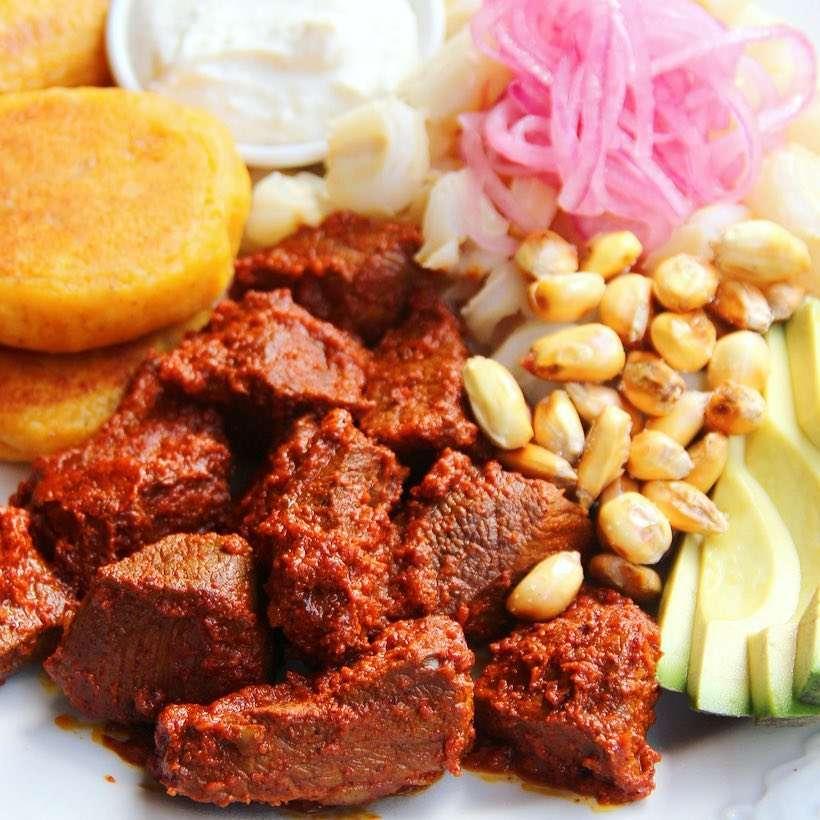 Otavalo market carne colorada