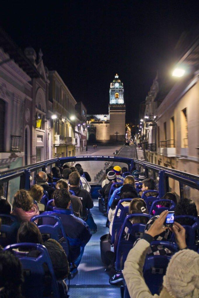 quito at night centro historico de quito